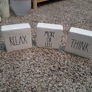 Rae Dunn double sided blocks